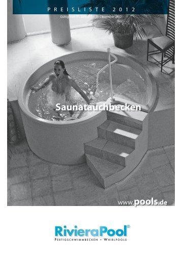 Saunatauchbecken - woga-Blockhaus