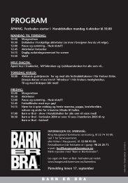 Program og brosyjer for Barn er Bra!-festivalen ... - Haugesund Kirke