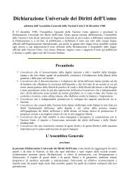 Dichiarazione Universale dei Diritti dell'Uomo - CISI
