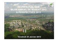 Bilan annuel de mandat-Réunion publique du 25 janvier ... - Noisiel