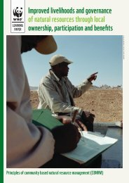 Improved livelihoods and governance of natural resources ... - WWF