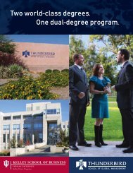 Two world-class degrees. One dual-degree program. - Thunderbird ...