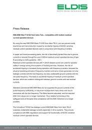 Press Release - ELDIS Ehmki, Schmid OHG