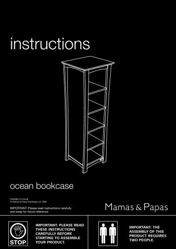 Ocean Bookcase instructions - Mamas & Papas