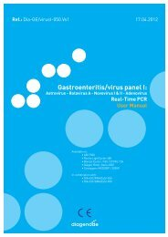 Gastroenteritis/virus panel I: - Diagenode Diagnostics