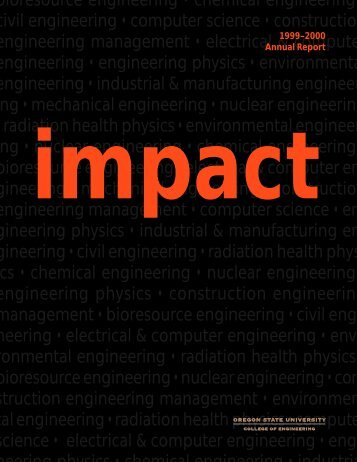 1999 Annual Report - College of Engineering - Oregon State ...