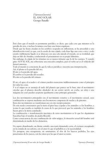 El ano solar, de Georges Bataille