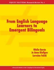 From English Language Learners to Emergent Bilinguals - Teachers ...