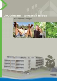 Ulm, Griesgasse – Wohnen an der Blau - BSG-Aufbau