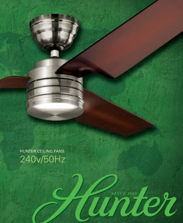 240v/50Hz - Hunter Fan