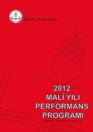 Milli Eğitim Bakanlığı 2012 Mali Yılı Performans Programı - Strateji ...