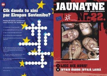 Cik daudz tu zini par Eiropas Savienību? - Jaunatnes starptautisko ...