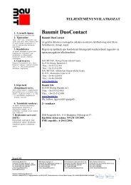 DuoContact - TNyLok - Baumit