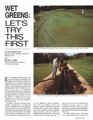 WET GREENS: LET'S TRY THIS FIRST - USGA Green Section Record