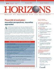 Version PDF (1.12 MB, 88 pages) - Horizons de politiques