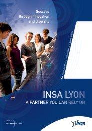 INSA Lyon a partner you can rely on. Success ... - INSA de Lyon