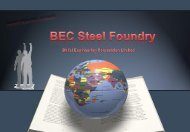 BEC Steel Foundry Presentation - Bhilai Engineering Corporation