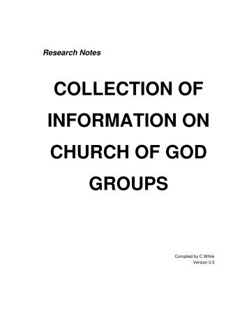 COLLECTION OF INFORMATION ON CHURCH ... - Origin of Nations
