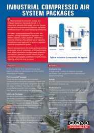 INDUSTRIAL COMPRESSED AIR SYSTEM PACKAGES - Glenco
