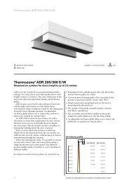 Thermozone® ADR 200/300 E/W