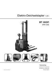 Elektro-Deichselstapler 1,35 t - Toyota Material Handling Deutschland