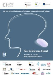 Post Conference Report - Online Educa Berlin