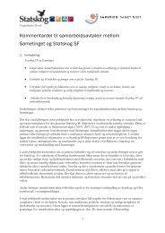Samarbeidsavtale mellom Statskog og Sametinget - kommentardel