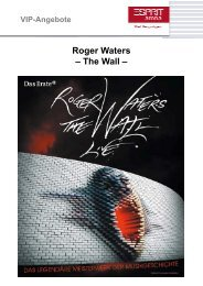 Roger Waters – The Wall – Wall - Esprit Arena