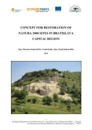 concept for restoration of natura 2000 sites in ... - DANUBEPARKS