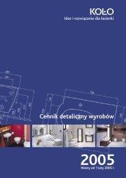 Cennik detaliczny wyrobów Koło 2005 - KOŁO Partner - Sanitec Koło