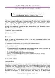 Présents : François Baudin, Jean-Xavier Castrec, Thierry - CNRS