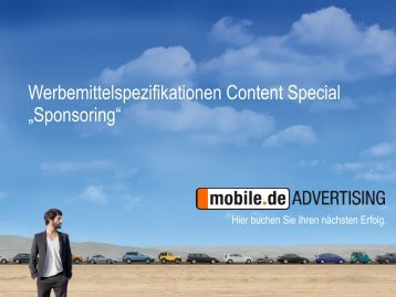Sponsoring - mobile.de Advertising