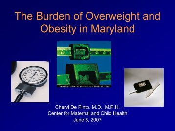 The Burden of Overweight and Obesity in Maryland