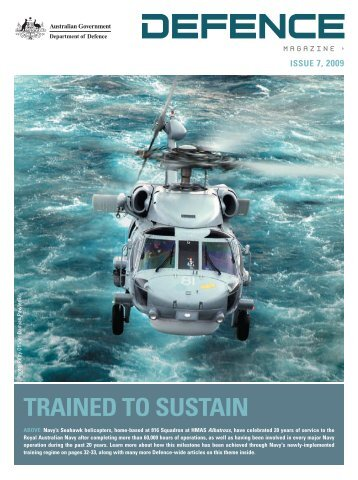 TRAINeD TO susTAIN - Department of Defence