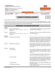 AmBEAUTY PERSONAL ACCIDENT - AmAssurance