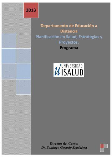 Departamento de Educación a Distancia Planificación en Salud ...