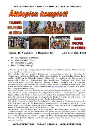 Termin: 15. November – 4. Dezember 2011 ...mit Prof. Hans Först