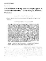 Polymorphism of Drug-Metabolizing Enzymes in Relation to ...