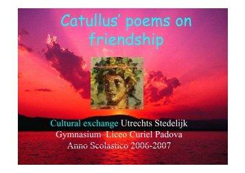 Catullus' poems on p friendship - E. Curiel