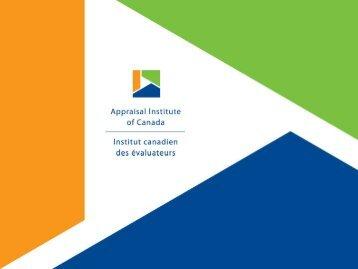 Racine-Dickie - Appraisal Institute of Canada