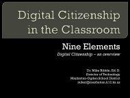 Nine Elements of Digital Citizenship - Wolf Creek Public Schools