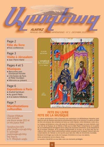 Alakiaz N° 3:Mise en page 1.qxd - Nouvelles d'Arménie