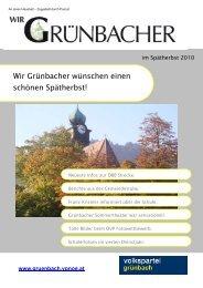 Wir Grünbacher wünschen einen schönen Spätherbst! - Volkspartei ...
