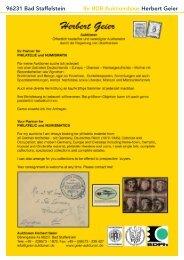96231 Bad Staffelstein Ihr BDB-Auktionshaus Herbert Geier