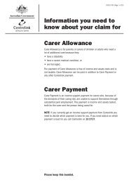 Information you need to know about your claim for Carer Allowance ...