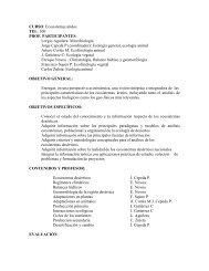 CURSO: Ecosistemas áridos TEL: 300 PROF. PARTICIPANTES ...