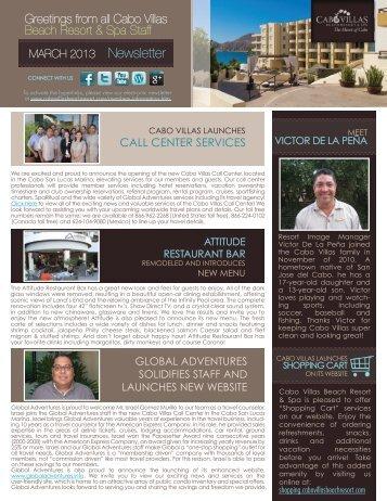CALL CENTER SERVICES - Cabo Villas Beach Resort