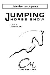 Liste des participants - Jumping Horse Show