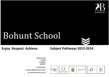 Pathways Booklet 2012-14 final - Bohunt School