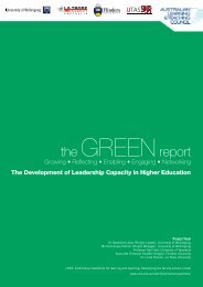 GREEN report - Office for Learning and Teaching